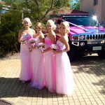 pink hummer wedding